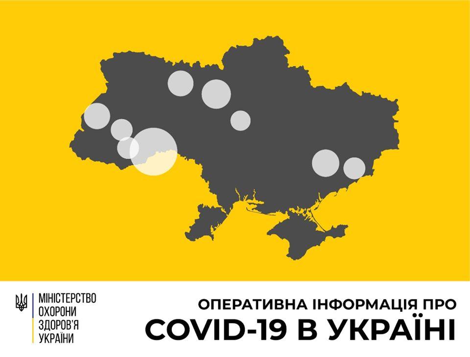В Україні підтверджено 84 випадки COVID-19 (станом на 10:00, 24 березня)