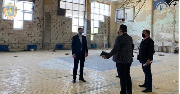 Будівельна готовність спортивного комплексу «Шахтар» у м. Червоноград на даний час майже 60%