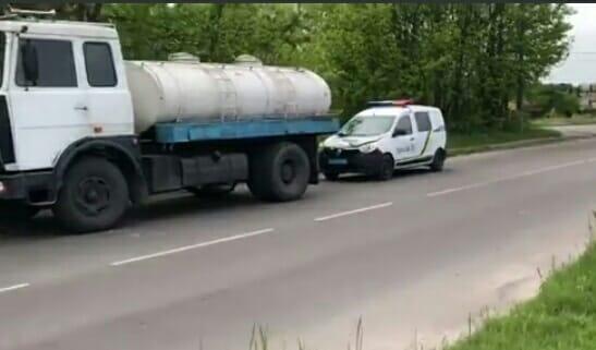 У Червонограді вантажівка зіткнулася з поліцейською автівкою