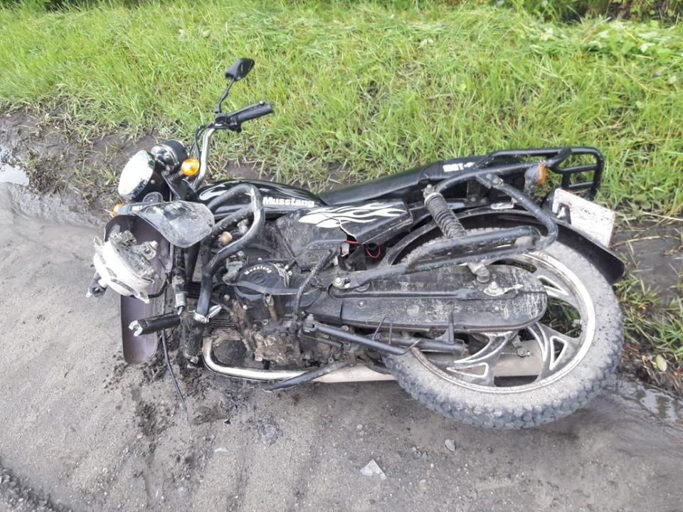 П'яна жінка на мотоциклі у Жовкві скоїла ДТП