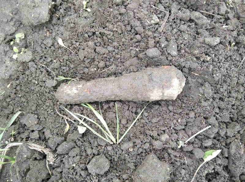 У Свитазві на Сокальщині знайшли артилерійський снаряд
