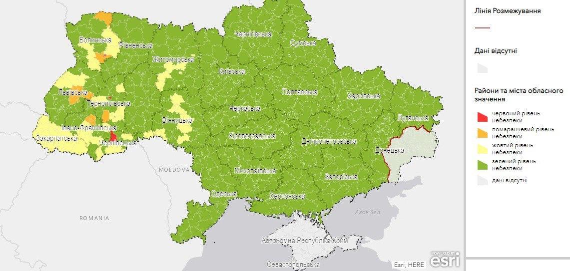 """У перші дні серпня на Сокальщині зафіксували 4 випадки COVID-19. Район у """"зеленій"""" зоні"""