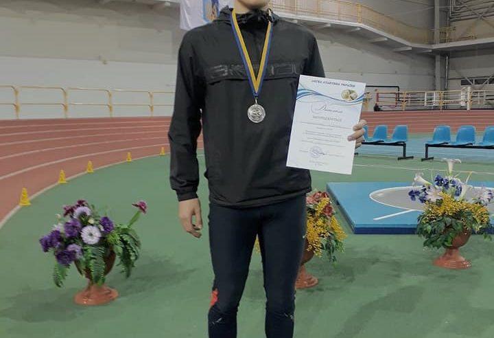 Червоноградець Максим Цихоцький – срібний призер Чемпіонату України з легкої атлетики
