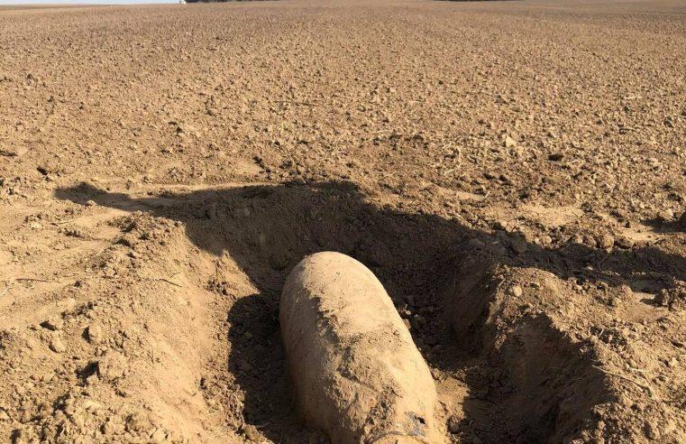 Поблизу с. Шпиколоси Сокальської МТГ в полі виявили авіаційну бомбу часів ІІ Світової війни