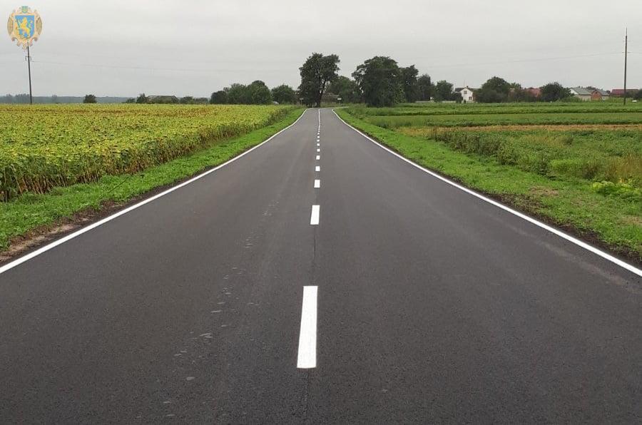 На Сокальщині завершився капітальний ремонт автомобільної дороги Комарів-Переспа