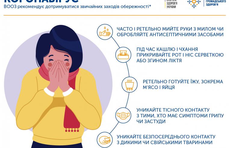 У Сокалі розклеєно оголошення-рекомендації про запобігання поширення коронавірусу