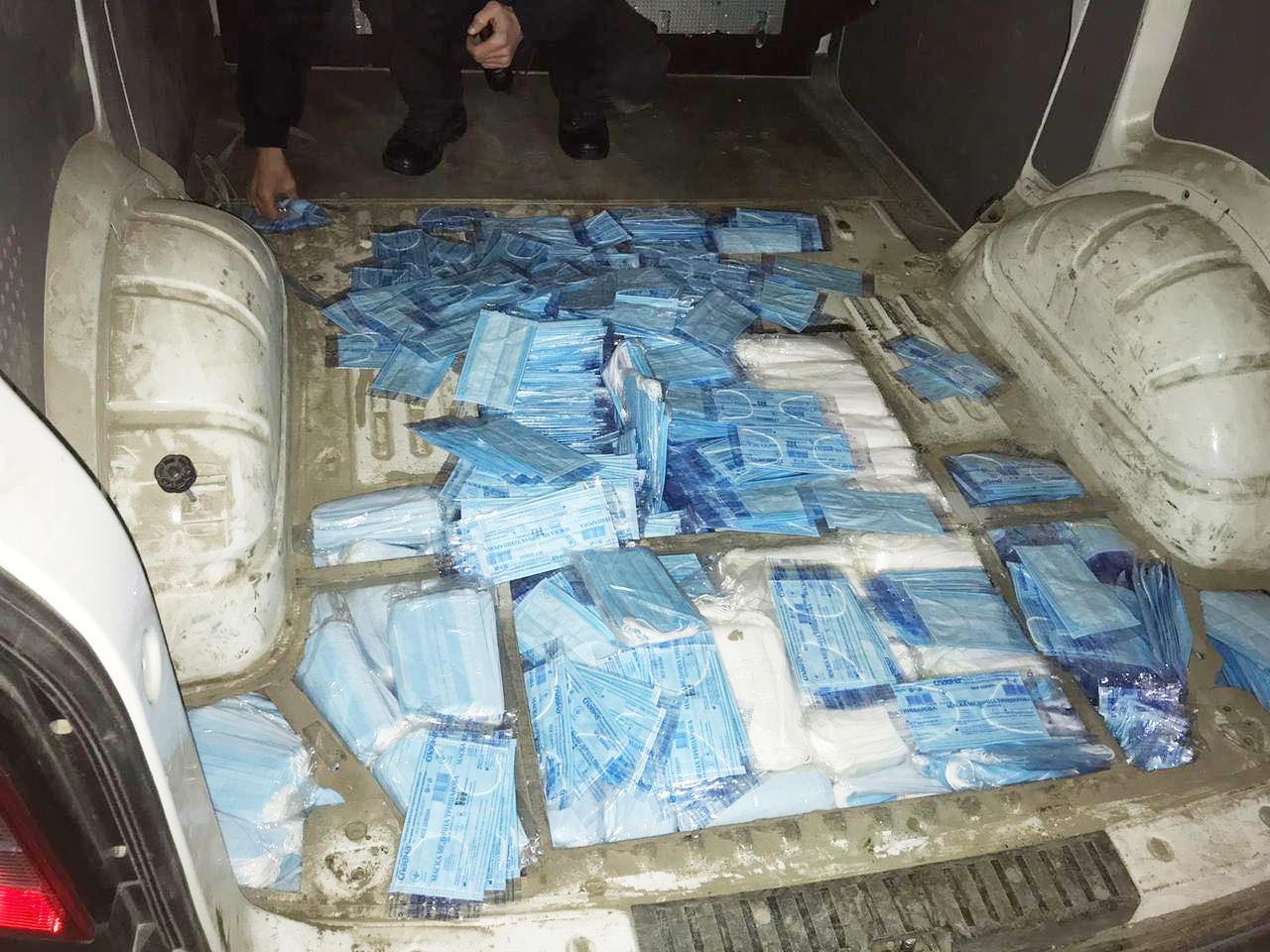 На кордоні виявили понад 10 тисяч захисних медичних масок