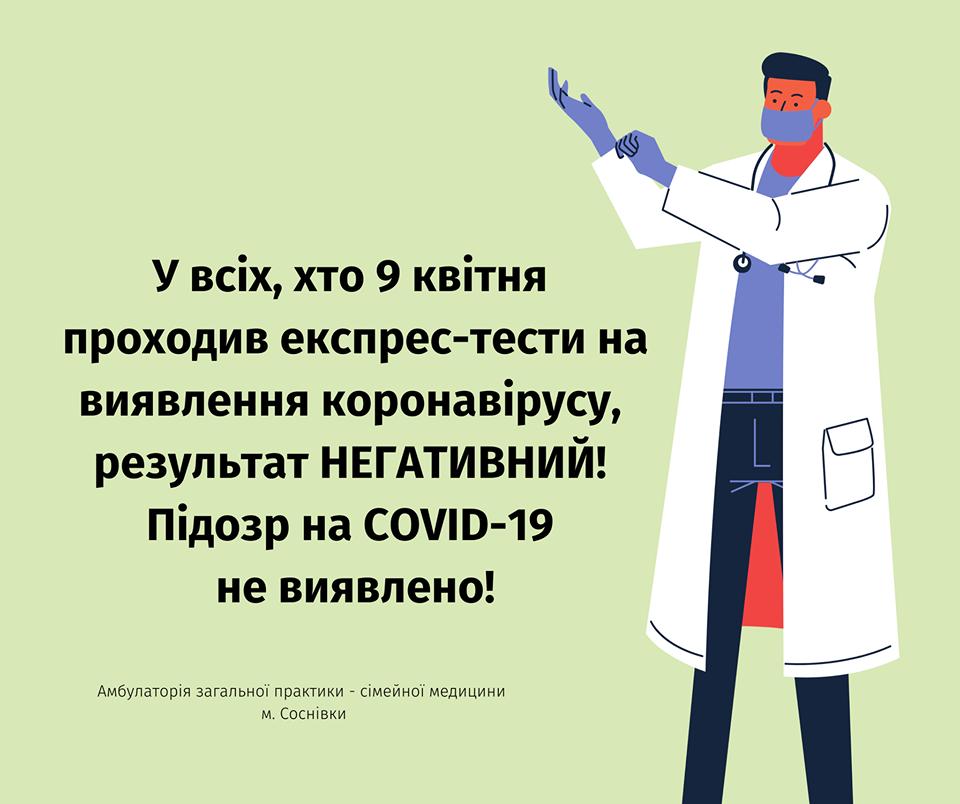 У госпіталізованої жительки Соснівки діагноз на коронавірус не підтвердився