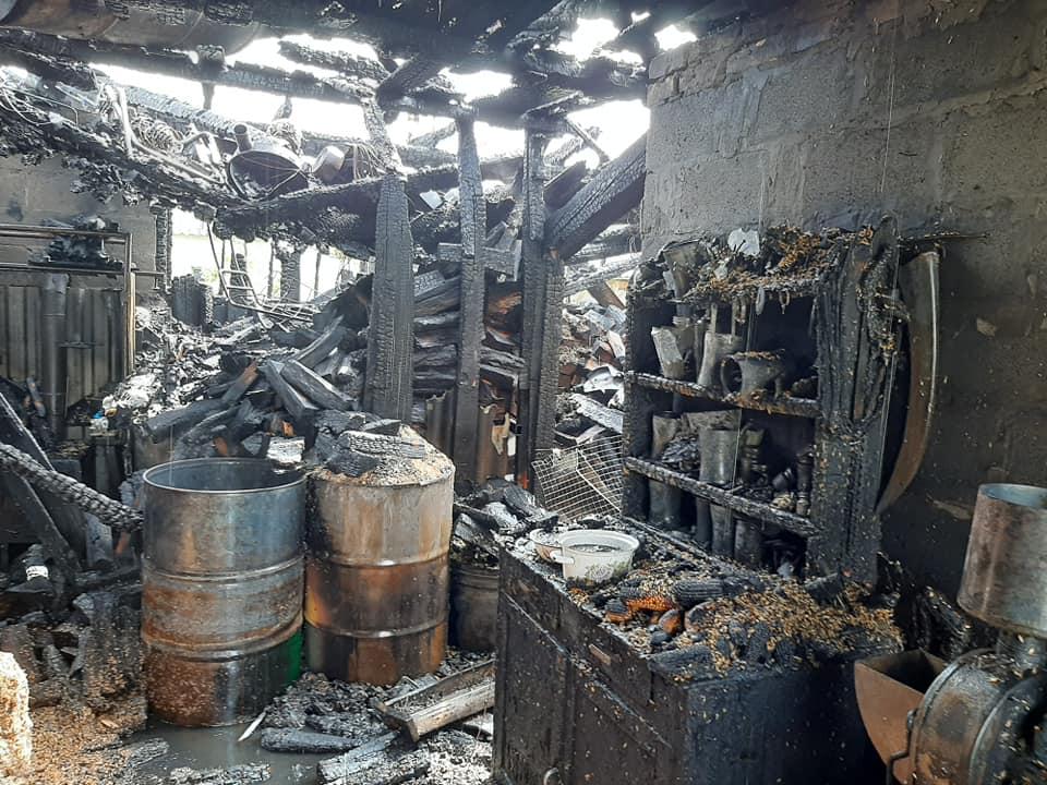 Пожежа у селі Стаївка на Сокальщині