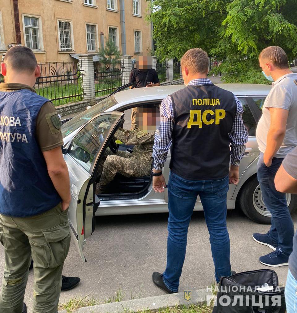 У Львові на хабарі затримали офіцера одного з військових вищих навчальних закладів
