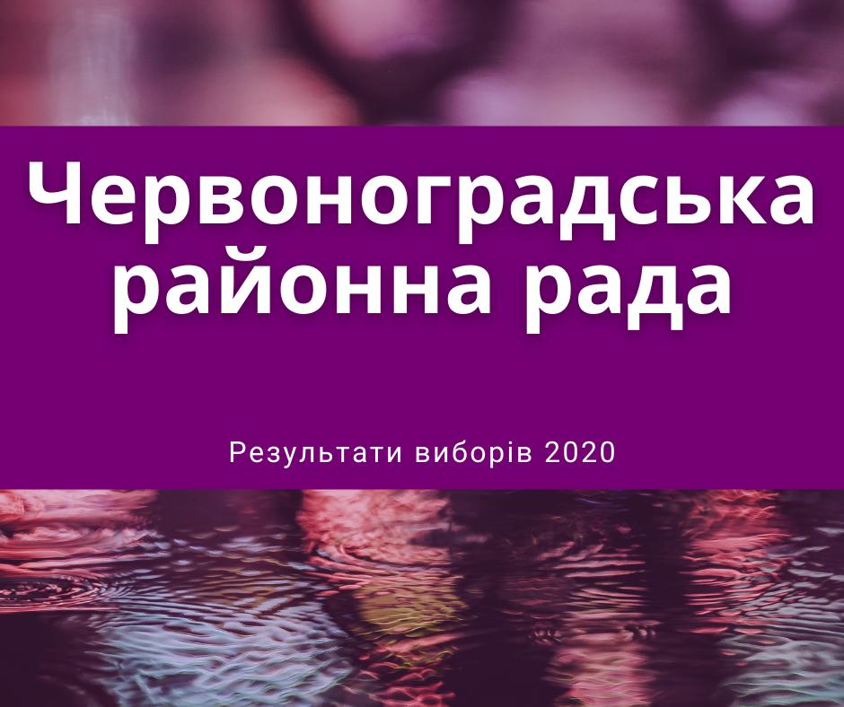 Кого обрано депутатами Червоноградської районної ради – результати виборів 2020