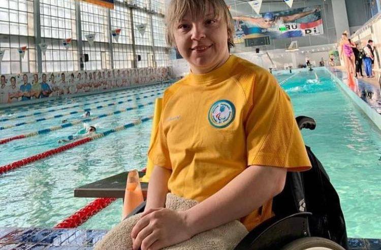 Червоноградка Антоніна Максімова виграла 5 нагород на Кубку України з плавання серед спортсменів з ураженням опорно-рухового апарату