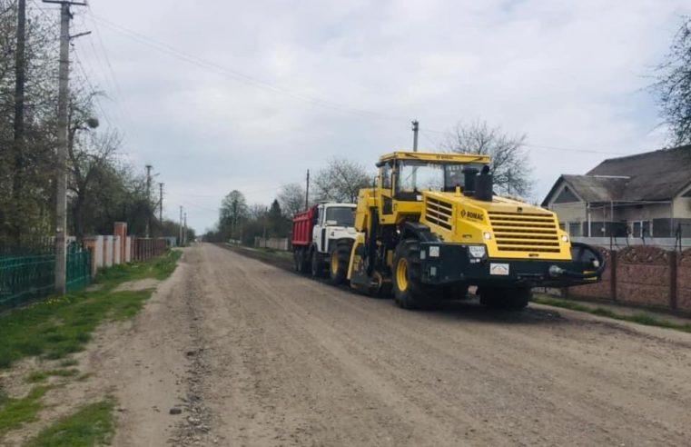 В Острові почали робити 620 метрів дороги