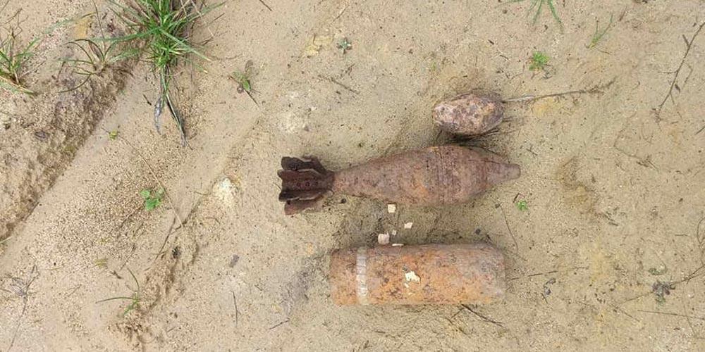 У Тартакові за 25 метрів від будинку виявили два артилерійській снаряди часів ІІ Світової війни