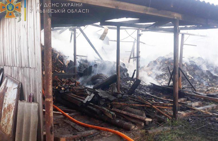 Згоріло три тонни сіна та 15 кубометрів дров – у Бутинах сталася пожежа