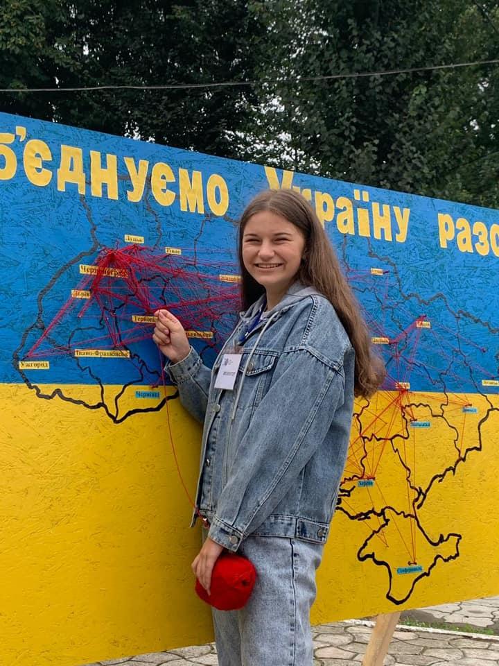 У Червонограді на день Незалежності на фотозоні об'єднували всі куточки України