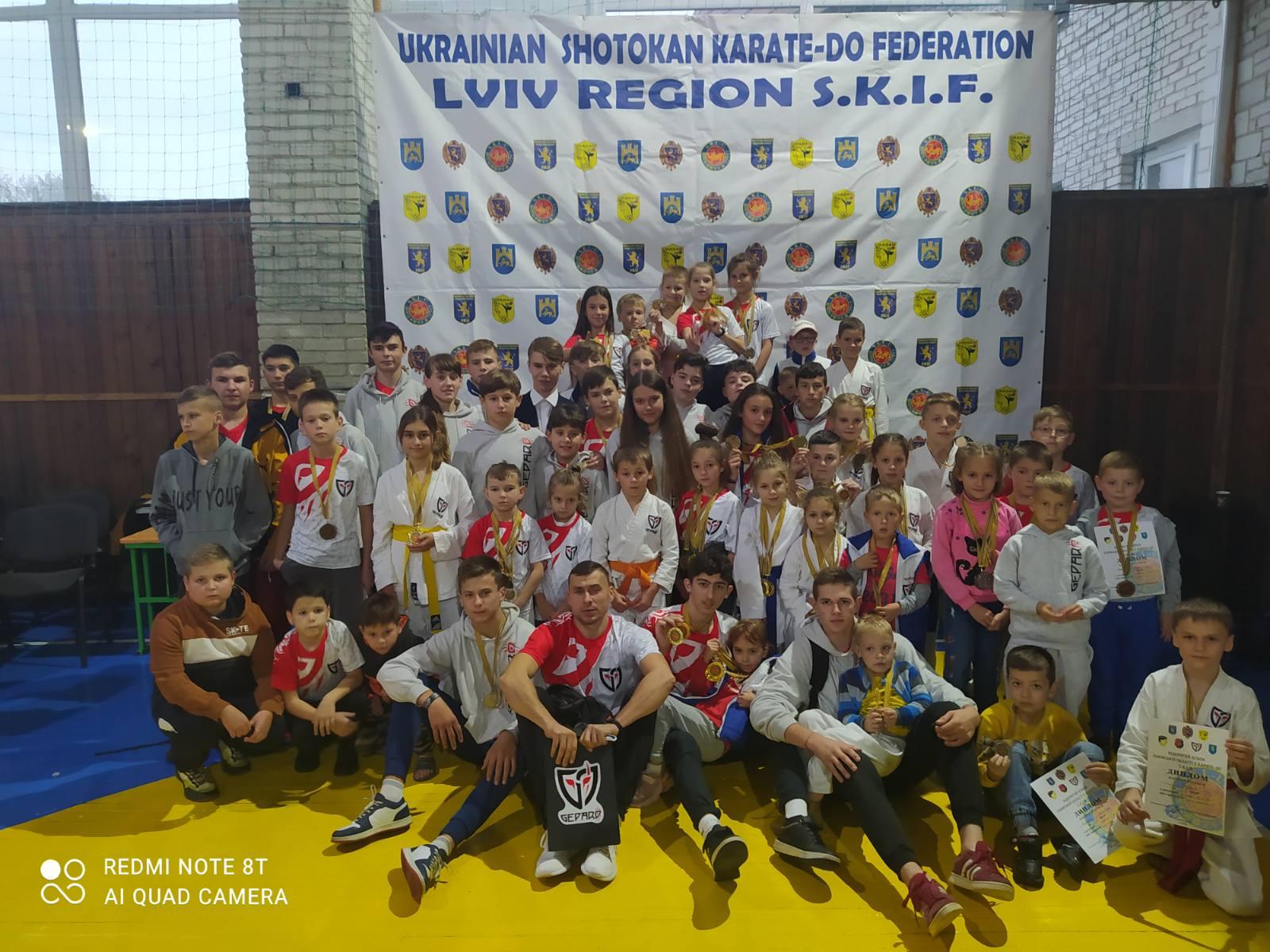 Команда СК GEPARD посіла перше загальнокомандне місце на відкритому Кубку Львівської області з Шотокан карате-до SKIF